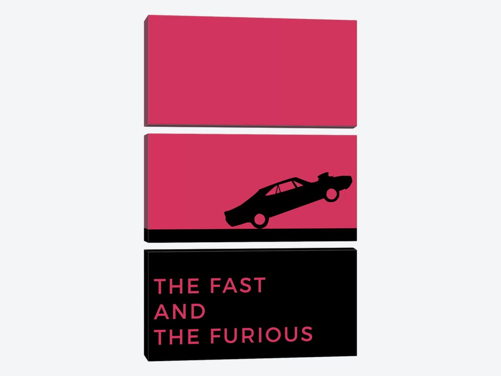 The Fast And The Furious Minimalist Poster by Popate 3-piece Canvas Artwork