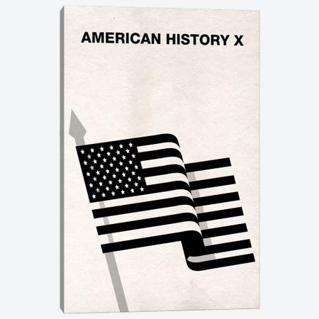 American History X Minimalist Poster Canvas Print #PTE7} by Popate Canvas Art