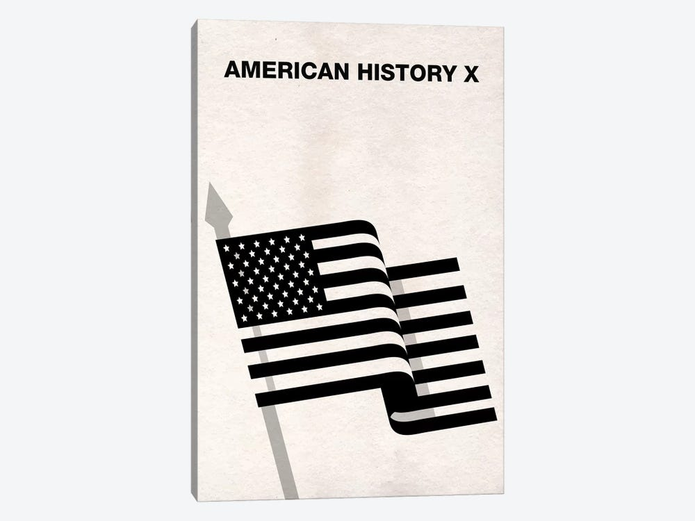American History X Minimalist Poster by Popate 1-piece Canvas Print