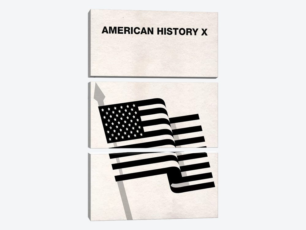 American History X Minimalist Poster by Popate 3-piece Canvas Print