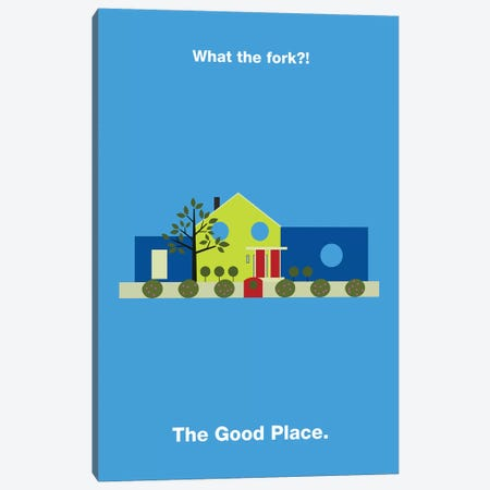 The Good Place Minimalist Poster Canvas Print #PTE81} by Popate Canvas Art