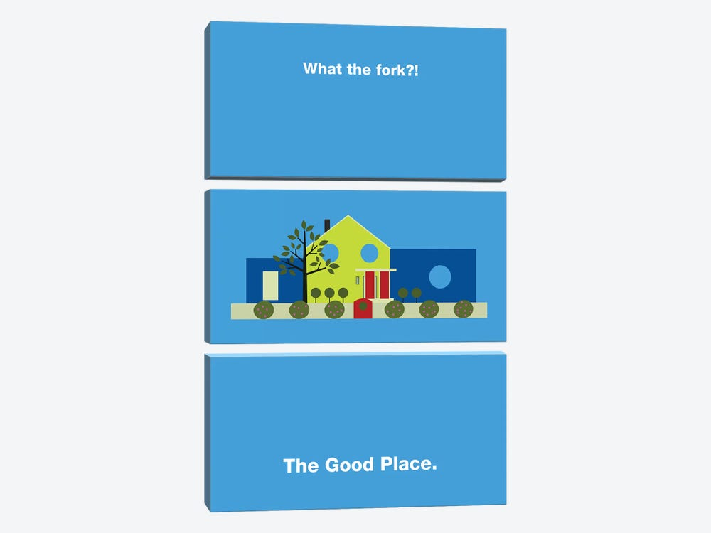 The Good Place Minimalist Poster by Popate 3-piece Canvas Art Print