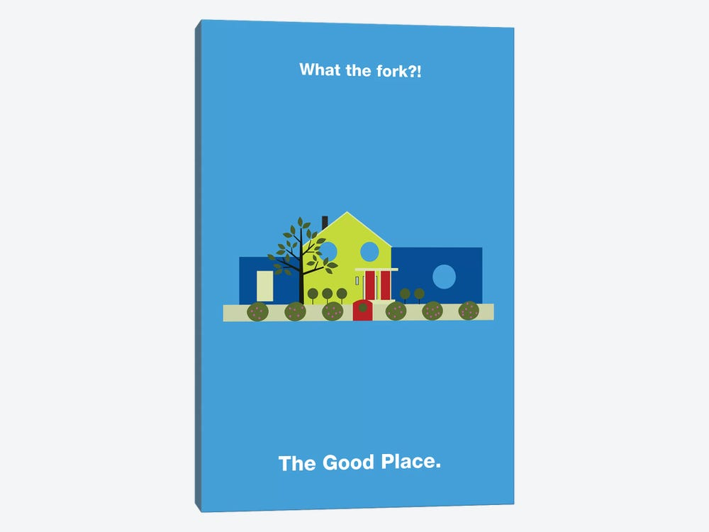 The Good Place Minimalist Poster by Popate 1-piece Canvas Art Print