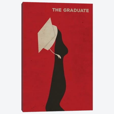 The Graduate Minimalist Poster Canvas Print #PTE82} by Popate Canvas Wall Art