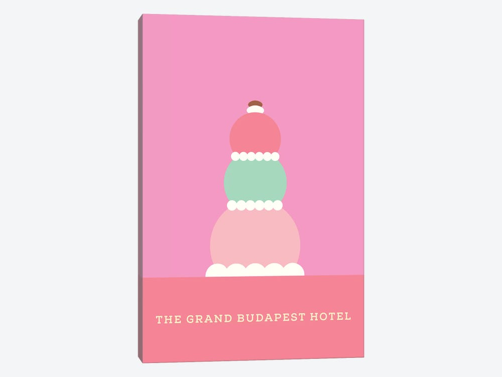 The Grand Budapest Hotel Minimalist Poster by Popate 1-piece Art Print