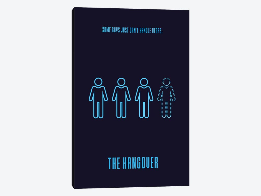 The Hangover Minimalist Poster by Popate 1-piece Art Print