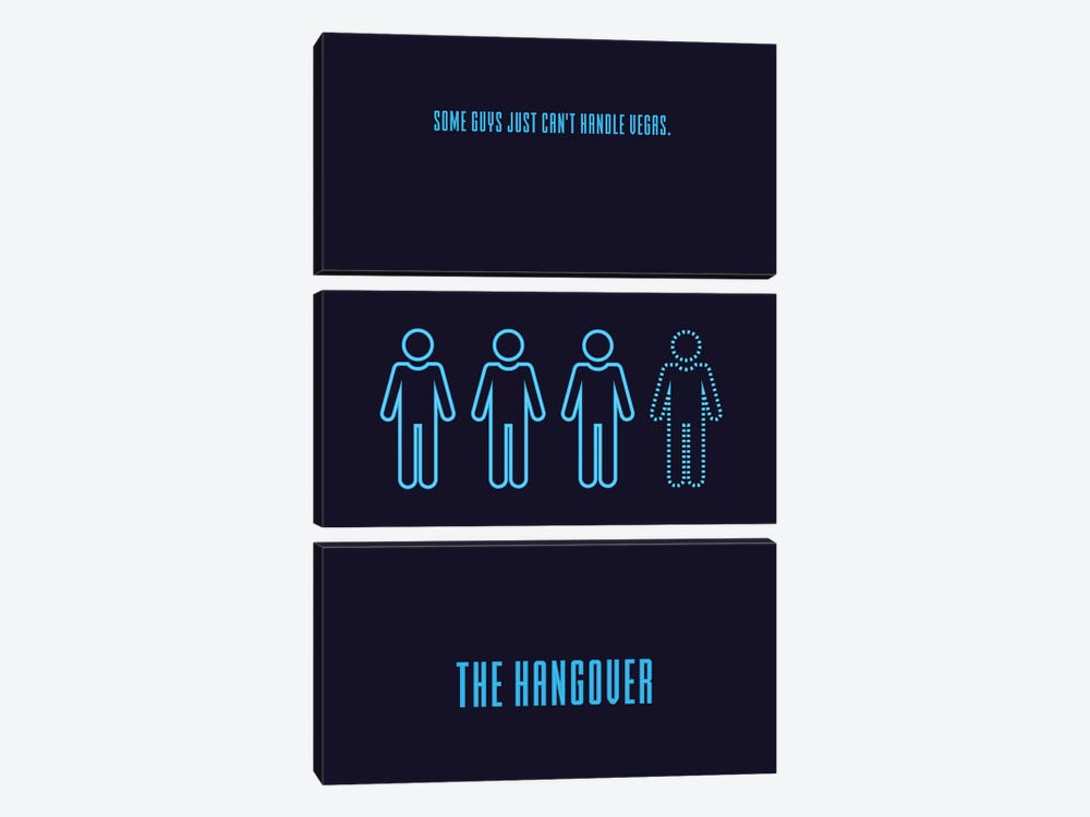 The Hangover Minimalist Poster by Popate 3-piece Art Print
