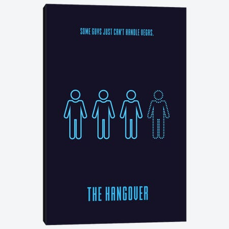 The Hangover Minimalist Poster 3-Piece Canvas #PTE85} by Popate Art Print