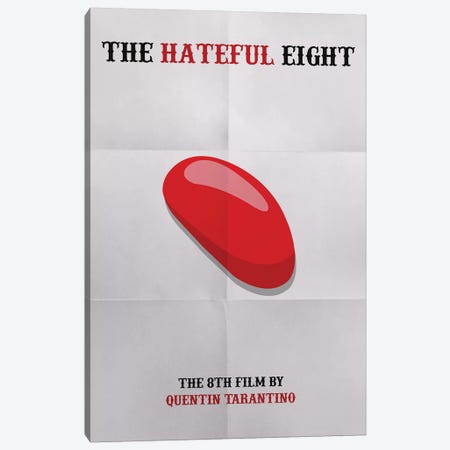 The Hateful Eight Minimalist Poster Canvas Print #PTE86} by Popate Canvas Print