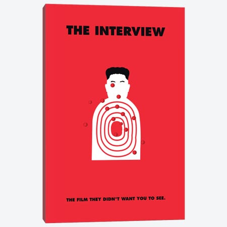 The Interview Minimalist Poster 3-Piece Canvas #PTE87} by Popate Canvas Print