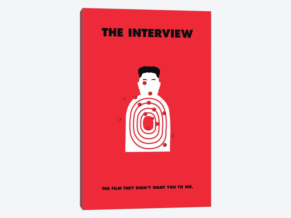 The Interview Minimalist Poster by Popate 1-piece Canvas Print