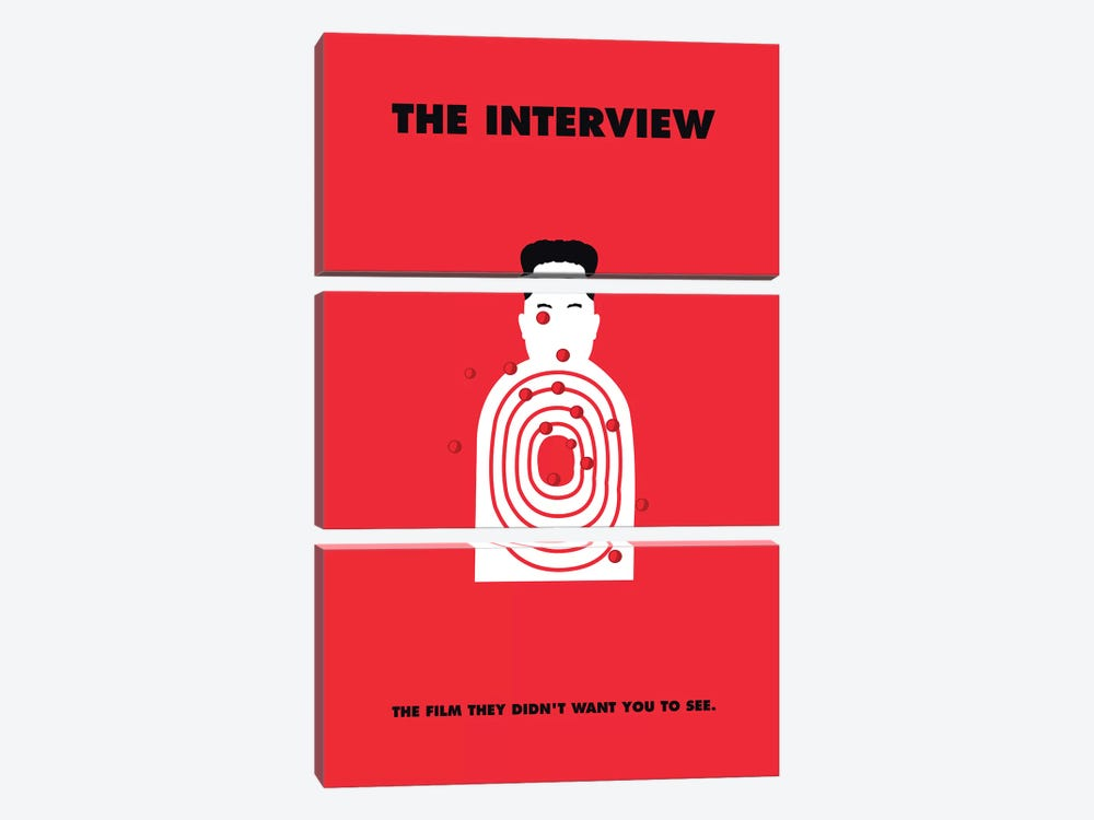The Interview Minimalist Poster by Popate 3-piece Canvas Print