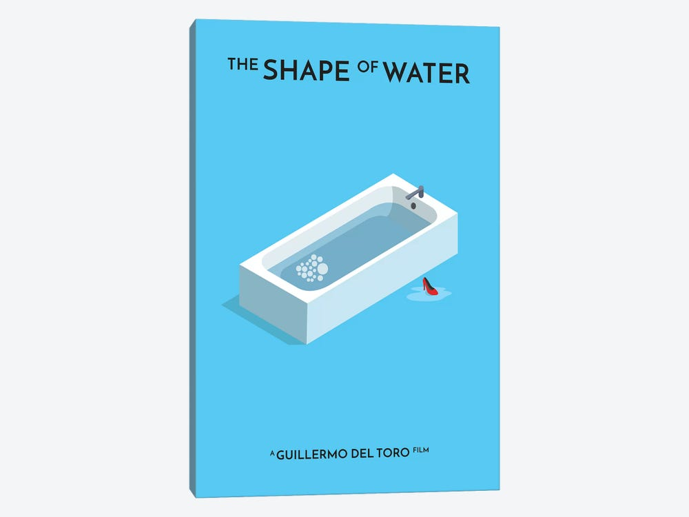 The Shape Of Water Minimalist Poster I by Popate 1-piece Art Print