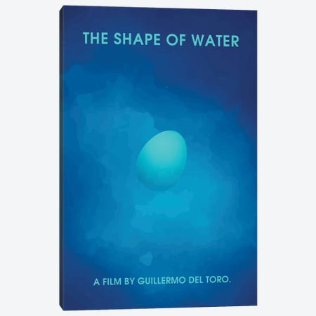 The Shape Of Water Minimalist Poster II Canvas Print #PTE90} by Popate Canvas Art Print