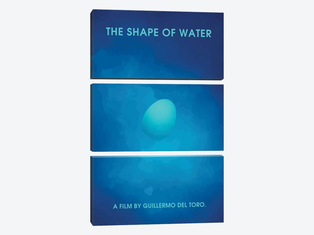 The Shape Of Water Minimalist Poster II by Popate 3-piece Canvas Print