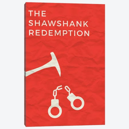 The Shawshank Redemption Minimalist Poster Canvas Print #PTE91} by Popate Art Print