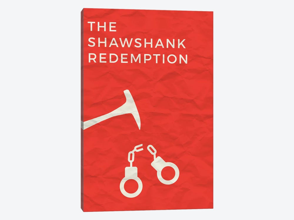 The Shawshank Redemption Minimalist Poster by Popate 1-piece Canvas Wall Art