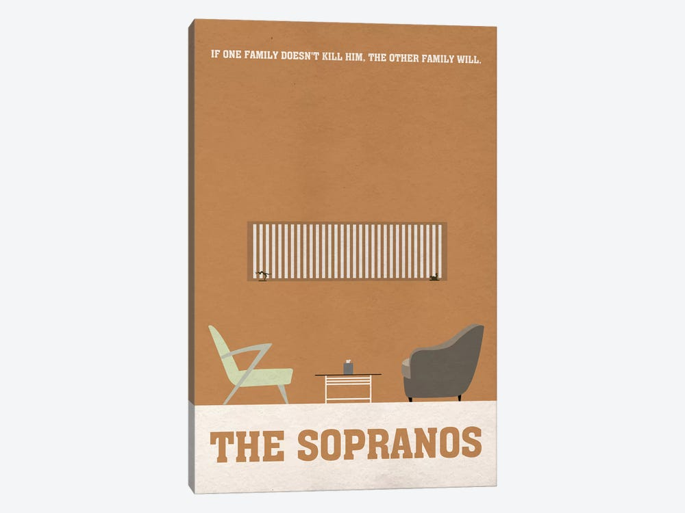 The Sopranos Minimalist Poster I by Popate 1-piece Canvas Print