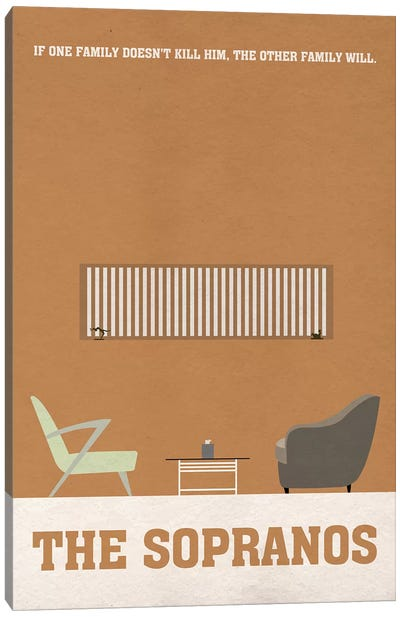 The Sopranos Minimalist Poster I Canvas Art Print