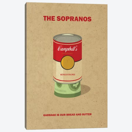 The Sopranos Minimalist Poster II 3-Piece Canvas #PTE93} by Popate Canvas Art Print