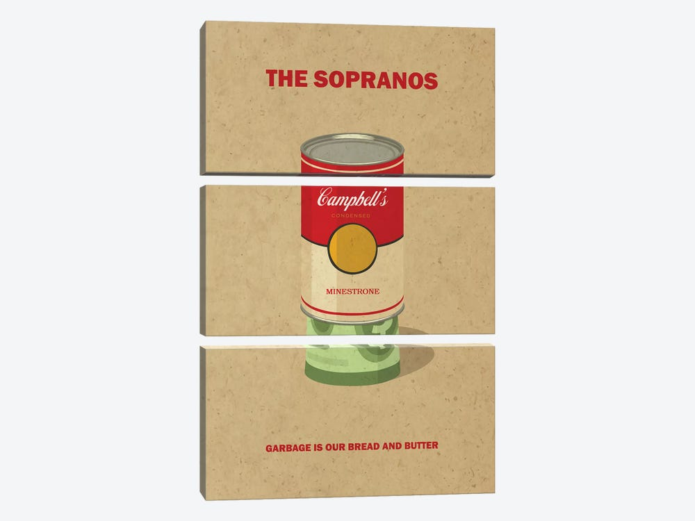 The Sopranos Minimalist Poster II by Popate 3-piece Canvas Art