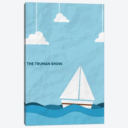 The Truman Show Minimalist Poster Canvas Print #PTE94} by Popate Canvas Wall Art