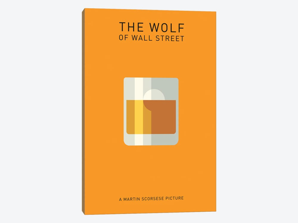 The Wolf Of Wall Street Minimalist Poster I by Popate 1-piece Canvas Artwork