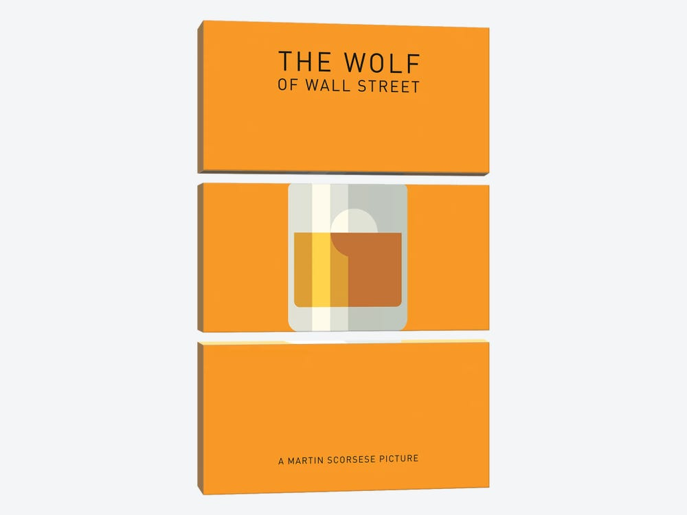 The Wolf Of Wall Street Minimalist Poster I by Popate 3-piece Canvas Wall Art