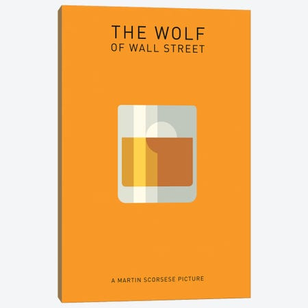 The Wolf Of Wall Street Minimalist Poster I Canvas Print #PTE97} by Popate Canvas Wall Art