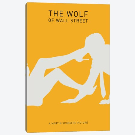 The Wolf Of Wall Street Minimalist Poster II Canvas Print #PTE98} by Popate Canvas Print