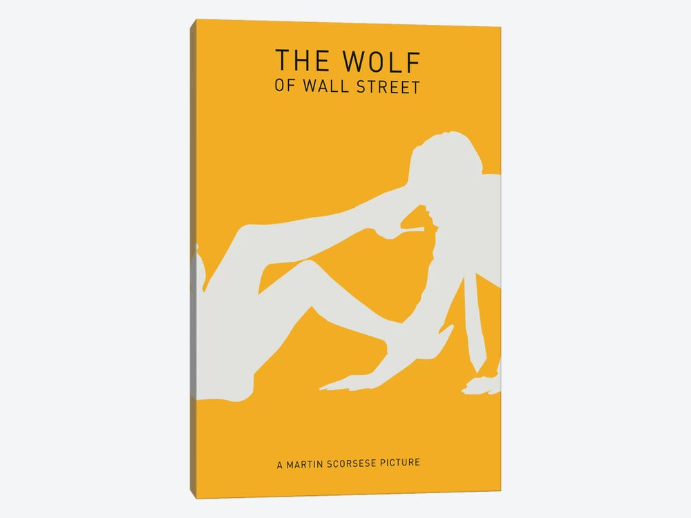 The Wolf Of Wall Street Minimalist Poster II by Popate 1-piece Canvas Print