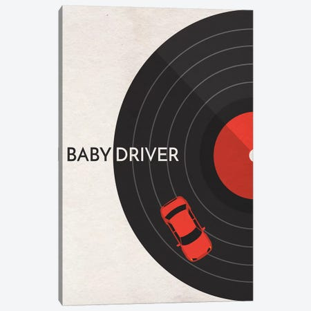 Baby Driver Minimalist Poster Canvas Print #PTE9} by Popate Canvas Print