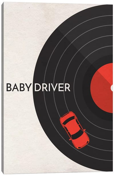 Baby Driver Minimalist Poster Canvas Art Print