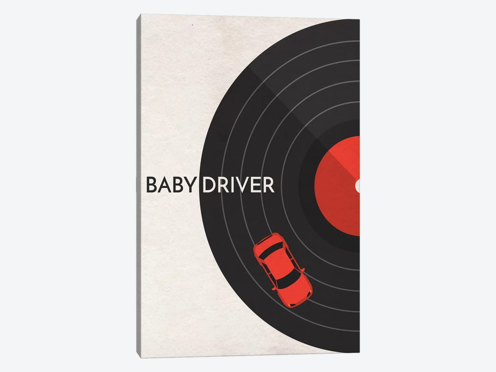Baby Driver Minimalist Poster by Popate 1-piece Art Print