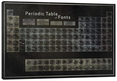 Periodic Table of Fonts #2 Canvas Art Print