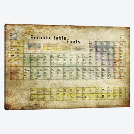 Periodic Table of Fonts #3 Canvas Print #PTF3} by 5by5collective Canvas Art