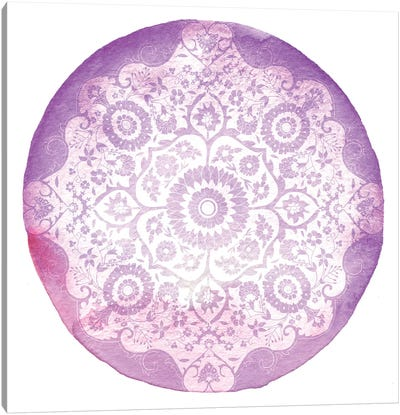 Violet Medallion Canvas Art Print