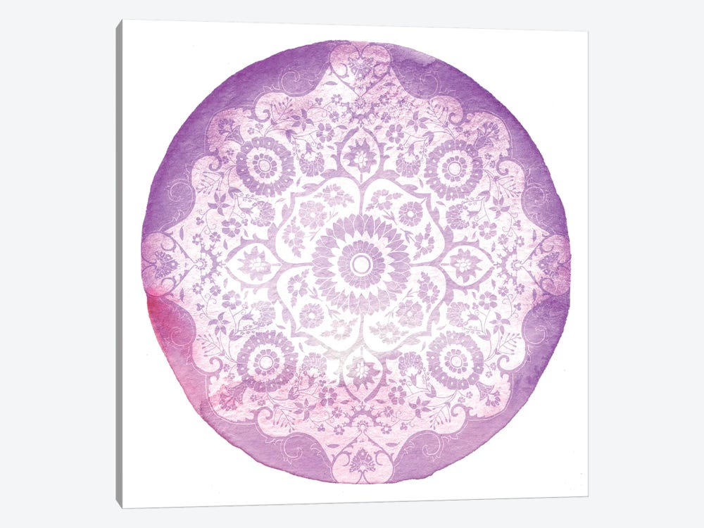 Violet Medallion by 5by5collective 1-piece Canvas Art Print