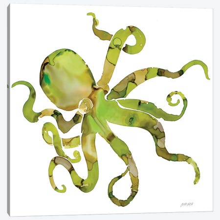 Octopus Canvas Print #PTM11} by Patti Mann Canvas Art Print