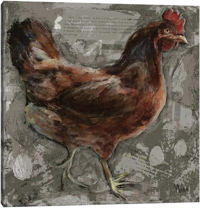Red Hen Canvas Art Print