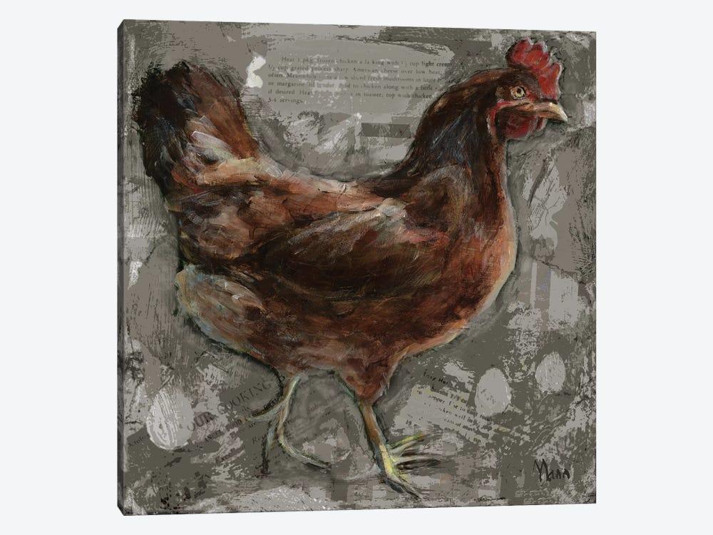 Red Hen by Patti Mann 1-piece Canvas Artwork