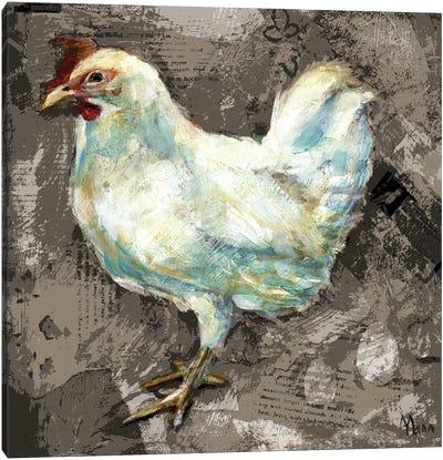 White Hen Canvas Art Print