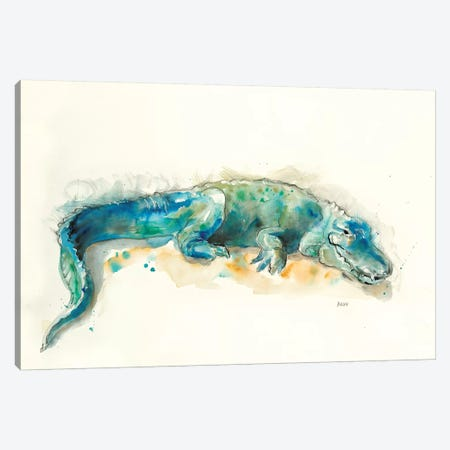 Alligator Canvas Print #PTM19} by Patti Mann Canvas Art Print