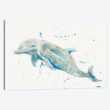Dolphin Canvas Print #PTM20} by Patti Mann Canvas Artwork