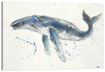 Humpback Whale Canvas Art Print