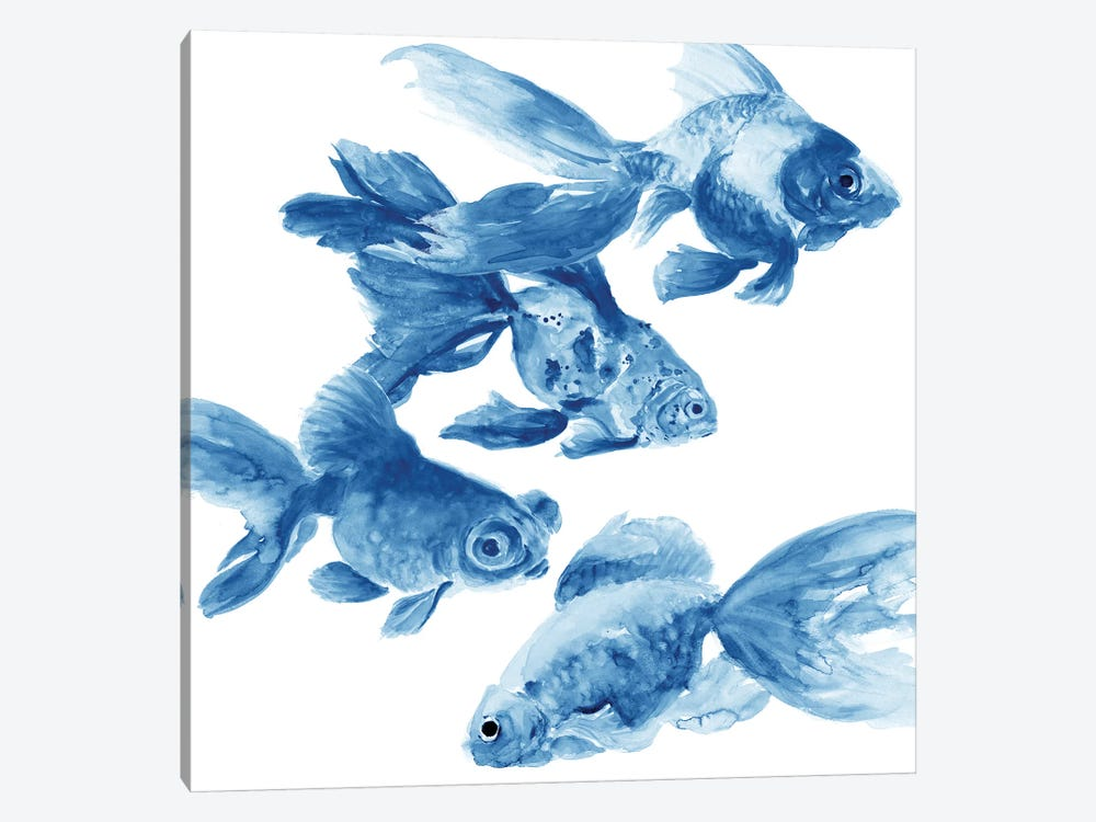 Fishes by Patti Mann 1-piece Canvas Wall Art