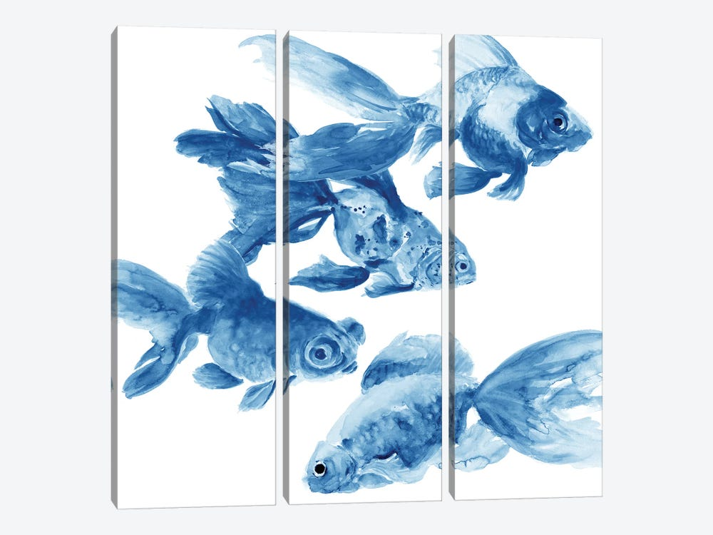 Fishes by Patti Mann 3-piece Canvas Art
