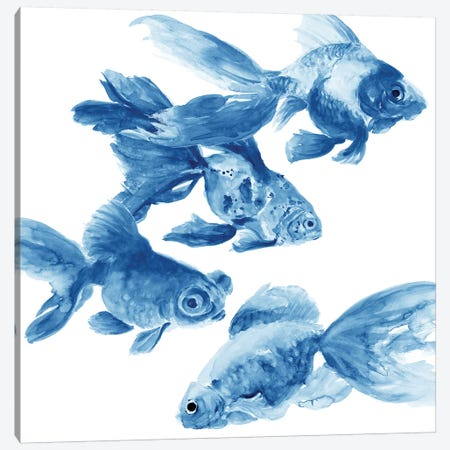 Fishes 3-Piece Canvas #PTM2} by Patti Mann Canvas Art Print
