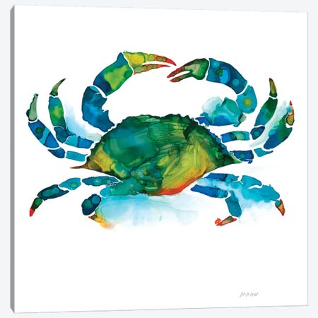 Crab Canvas Print #PTM6} by Patti Mann Canvas Art