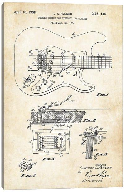 Fender Stratocaster Guitar (1956) Canvas Art Print